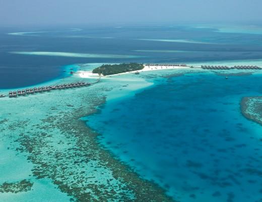 Ariel View of Constance Moofushi - the Maldives