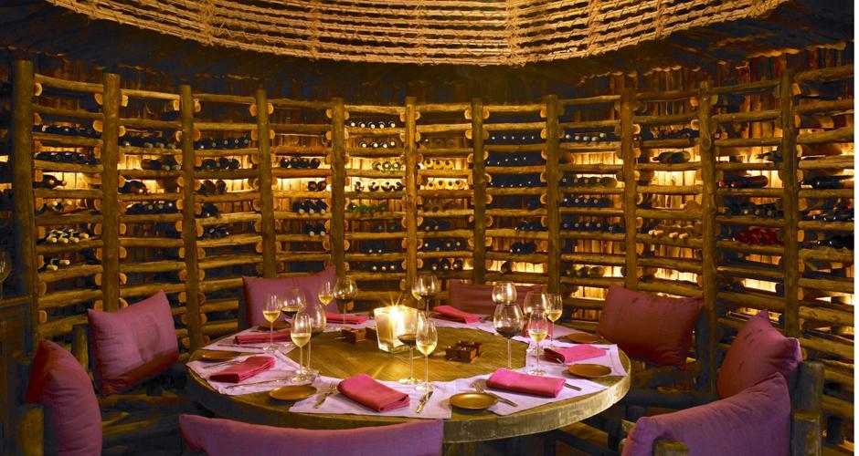 wine cellar wine tasting at Six Senses Zighy Bay