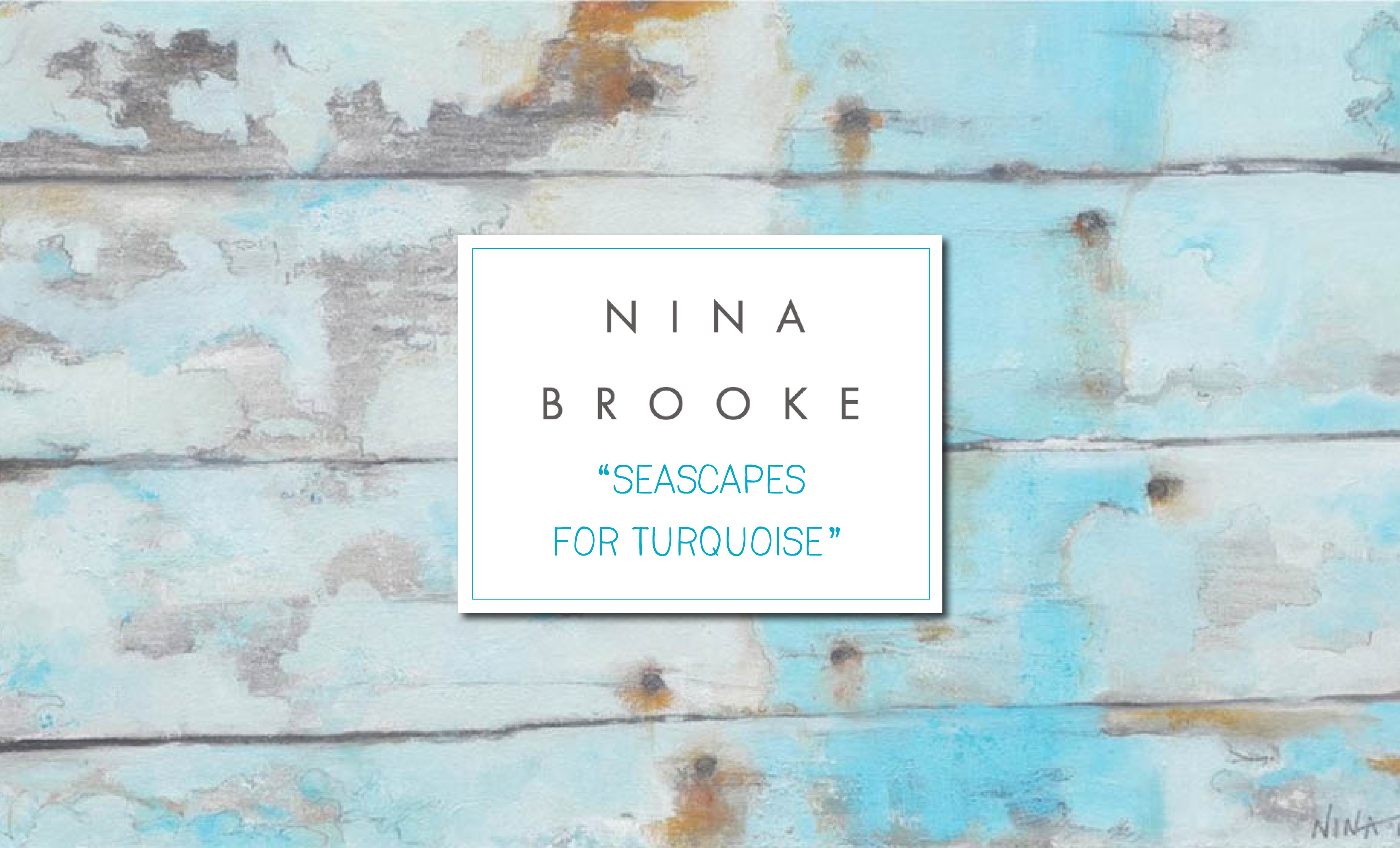 nina brooke seascapes for turquoise london art exhibition pop up