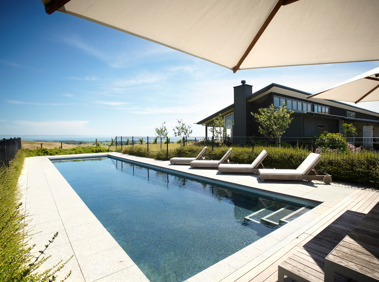 Pool-view-from-pool-house new Zealand wine
