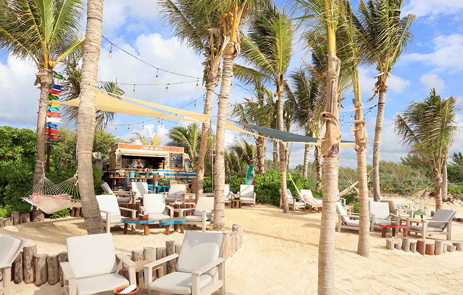 rosewood Mayakoba Mexico beach bar