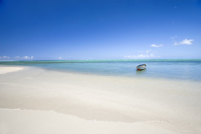 Mauritius Sea and Row Boat