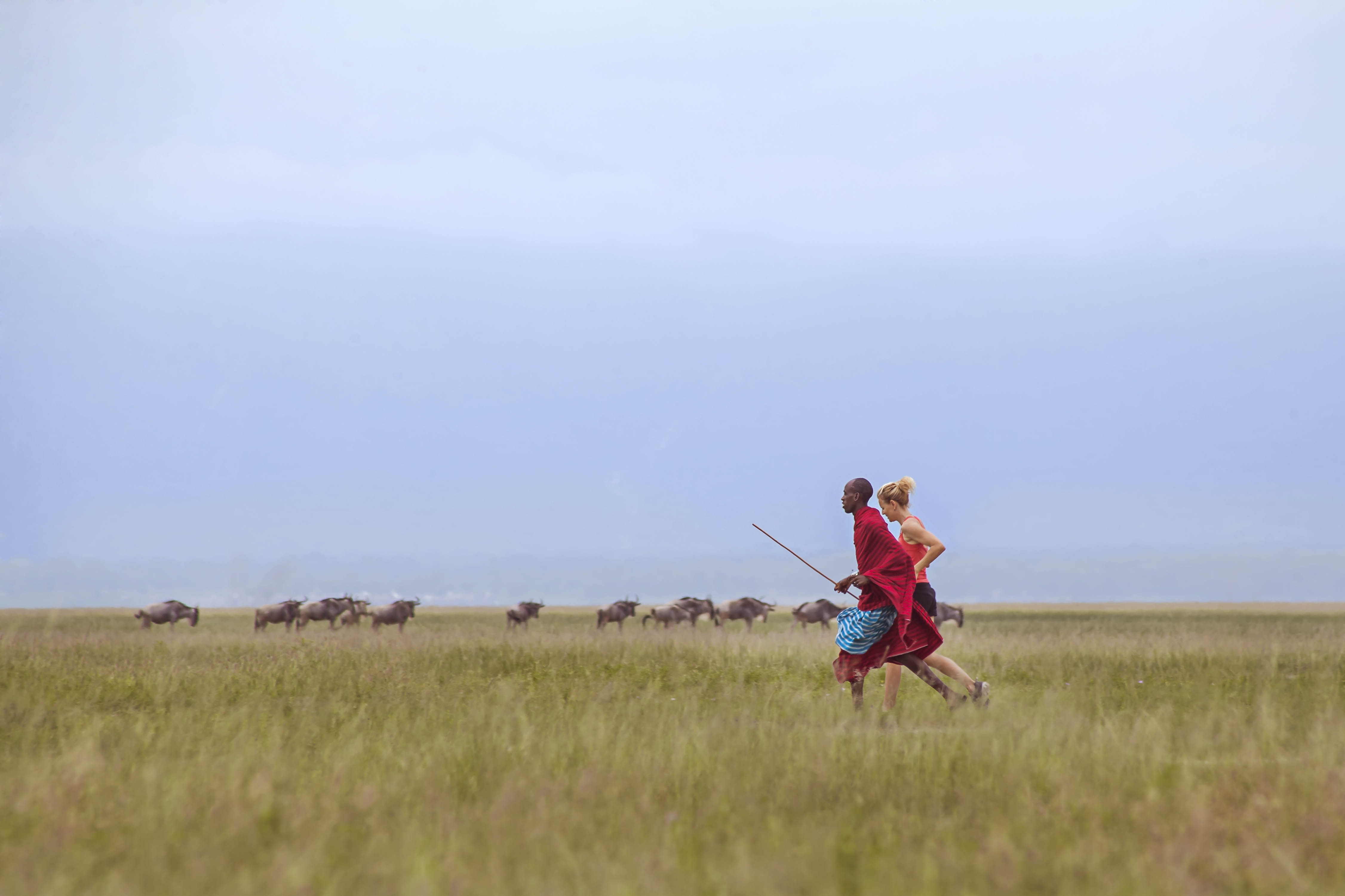 Running in Northern Tanzania