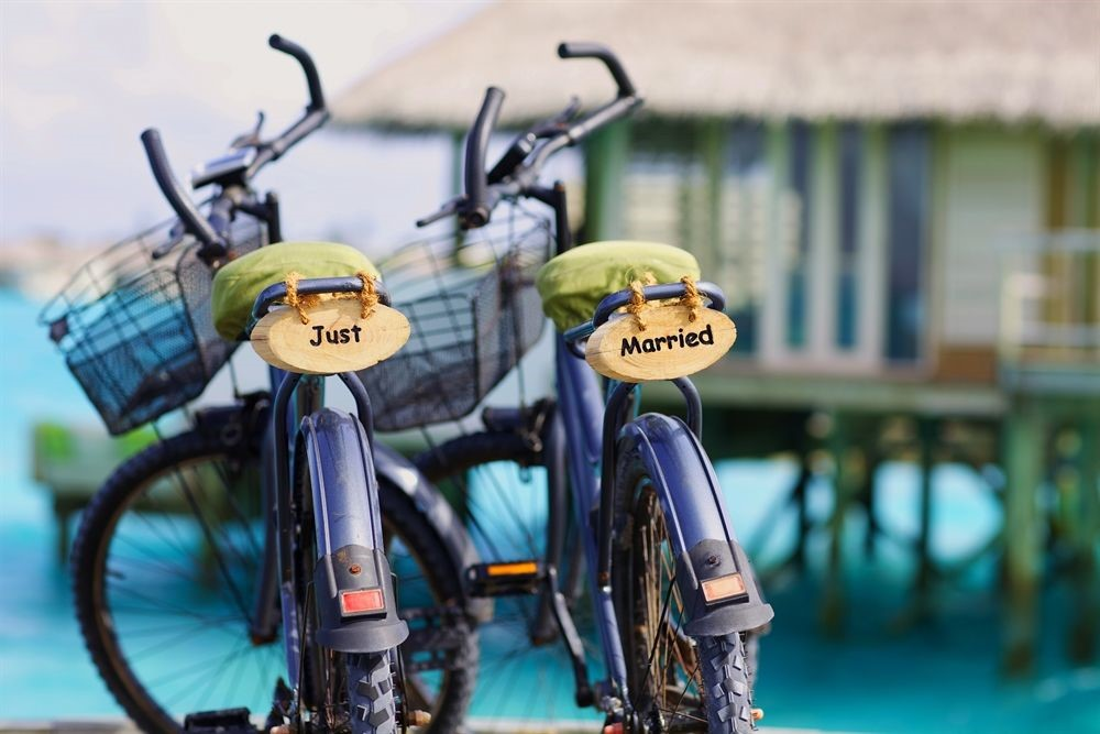 just-married-bikes