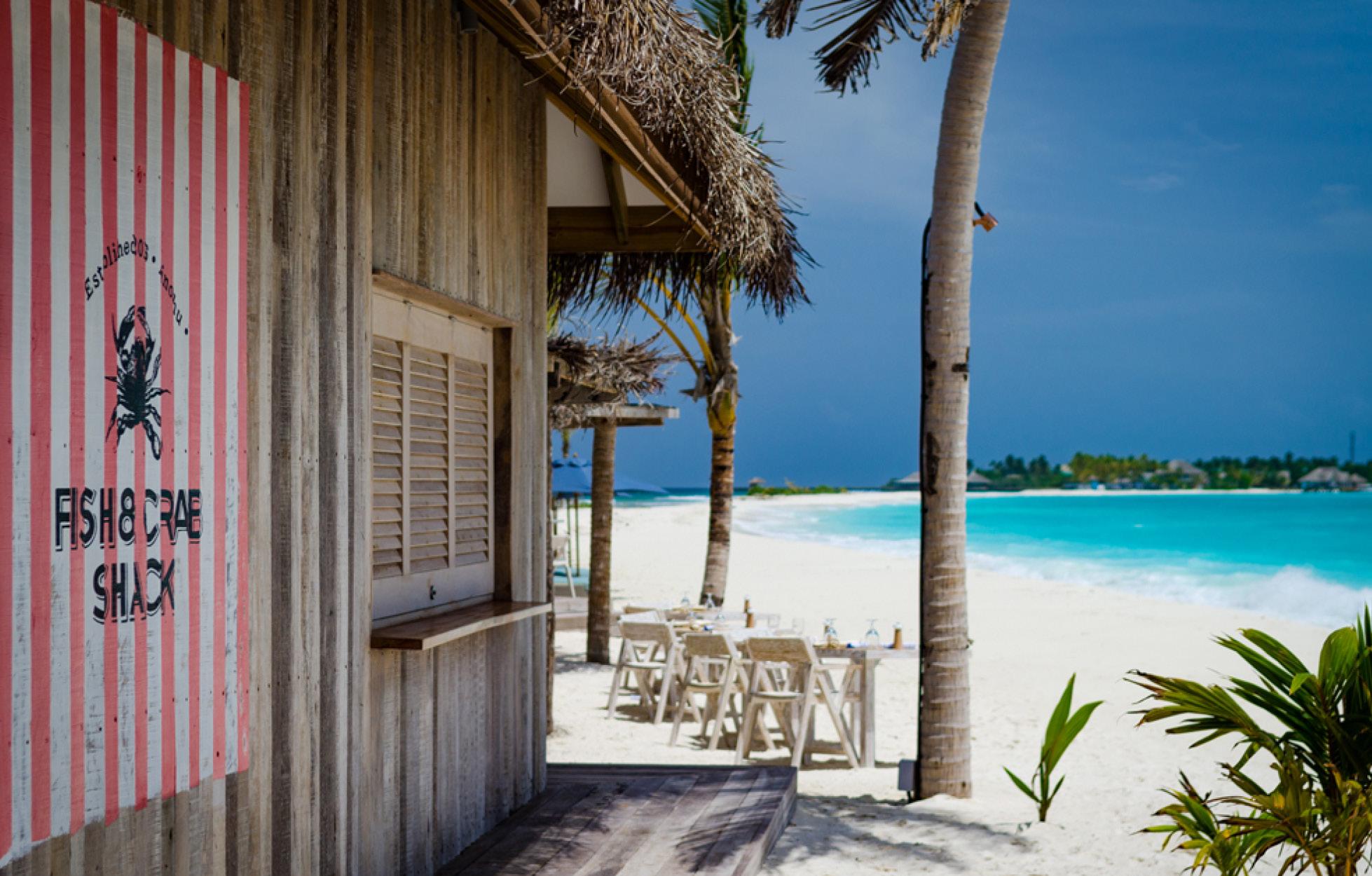 finolhu crabshack beach bar the maldives