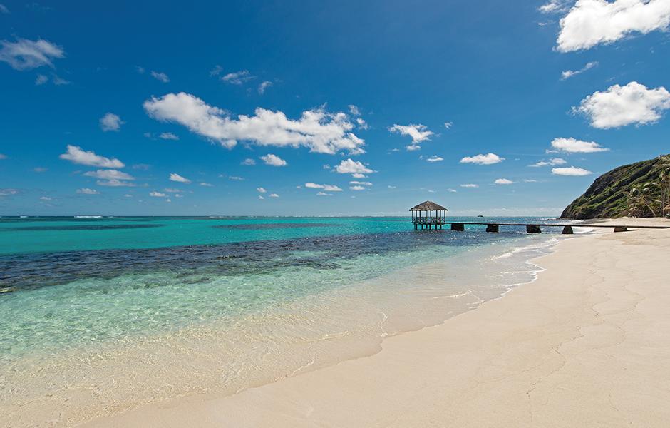 Petit st vincent caribbean beach