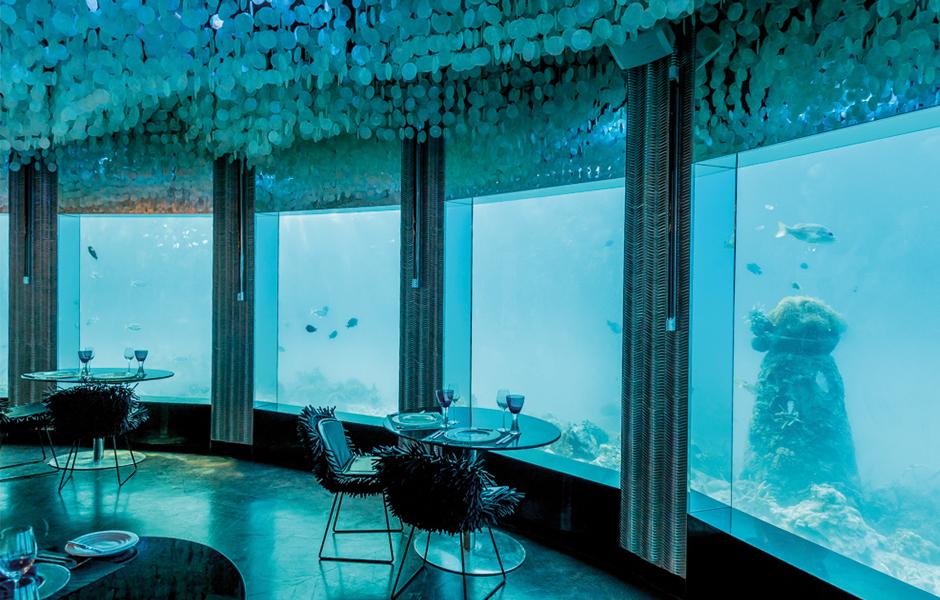 maldives underwater dinning