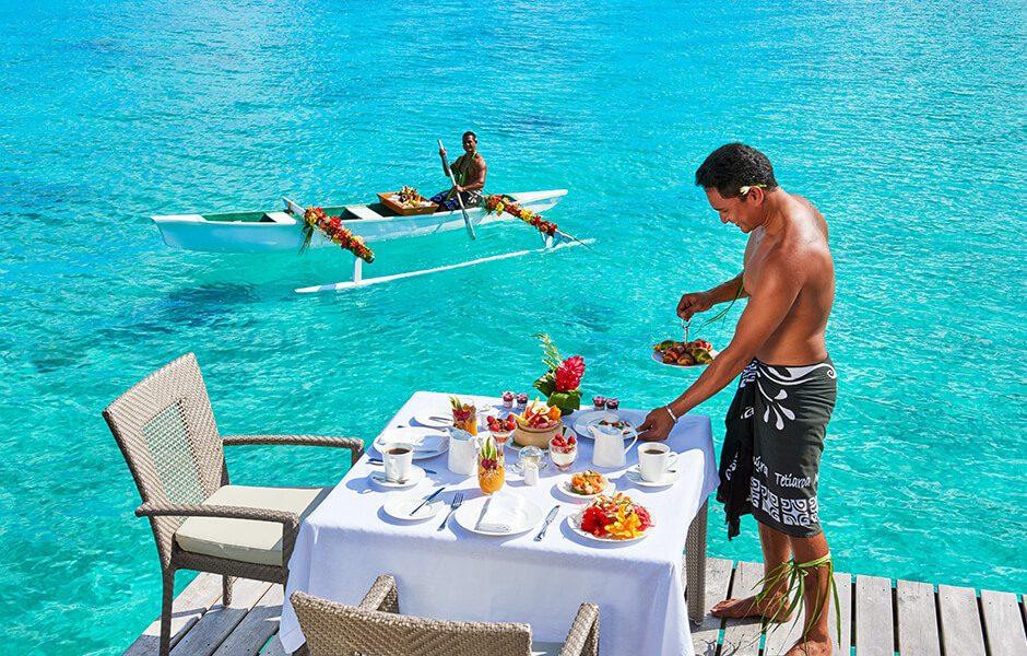 Conrad Bora Bora Nui Canoe Breakfast