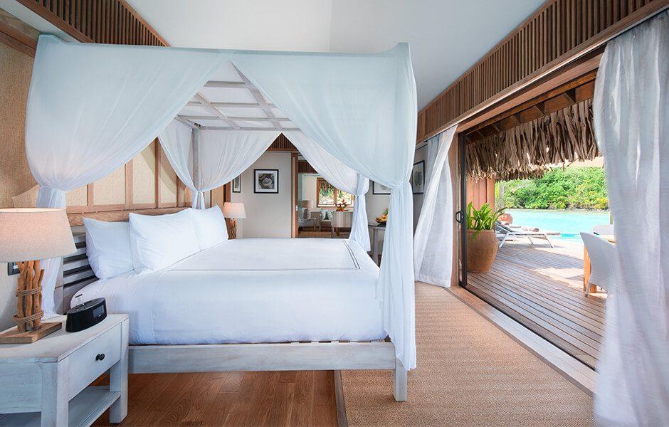 Conrad Bora Bora Nui- Overwater Villas Bedroom
