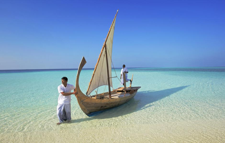 Clear Maldives Sea, Boat