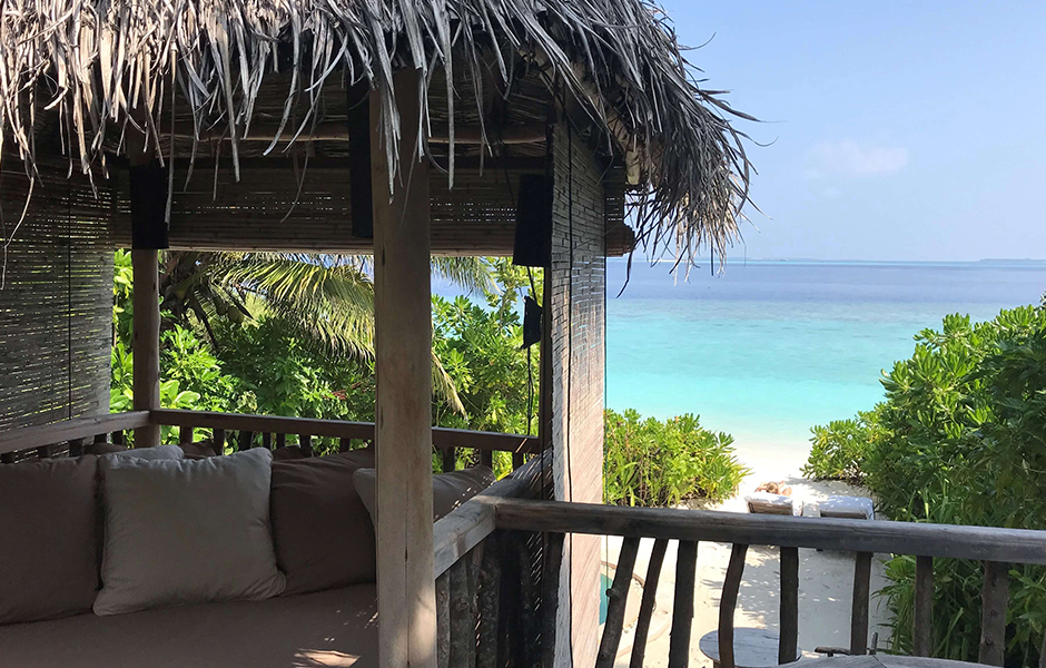 soneva fushi beach villa view