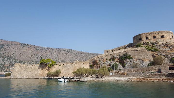 Spinalonga island in Crete, Greece